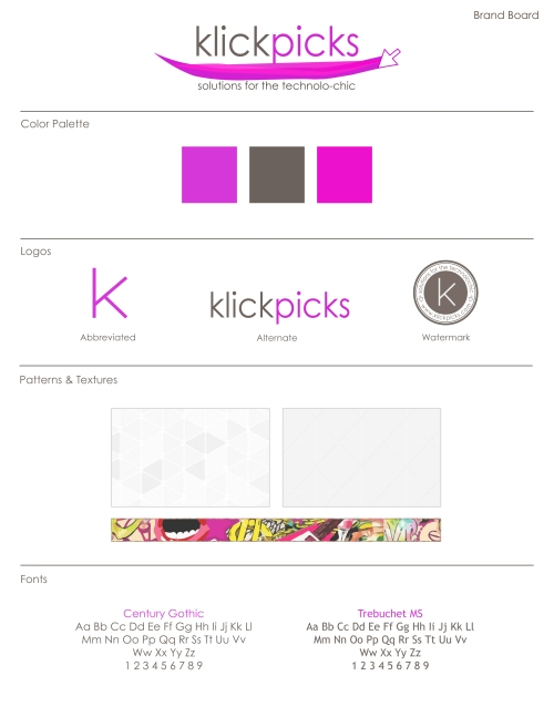 Klickpicks Brand Board